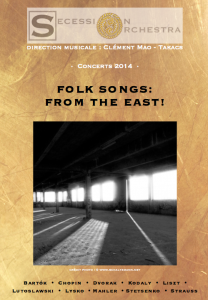 février 2014 : Folk Songs from the East
